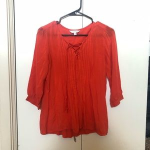 Charming Charlie Coral Blouse